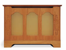 sweeping arch cabinet